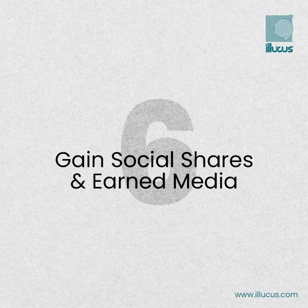 social shares and earned media